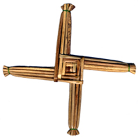 Irish St Bridget's Cross made from Rushes
