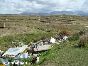 Dumping in the Roundstone Bog Complex, Connemara, Co. Galway