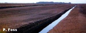 Industrial Peat Extraction from a Raised Bog in the Midlands of Ireland