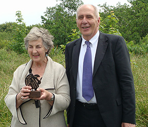MFDA receive international conservation merit award for the work they did to conserve Fenor Bog, Co. Waterford, Ireland
