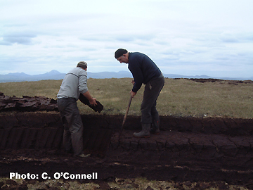 Turf Cutting Aranmore Island, Donegal