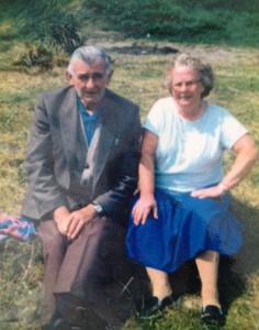 Nancy and Paddy Sweeney on Roseberry Bog